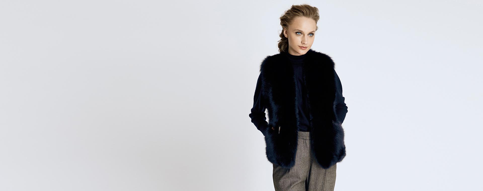 wear the fur vest