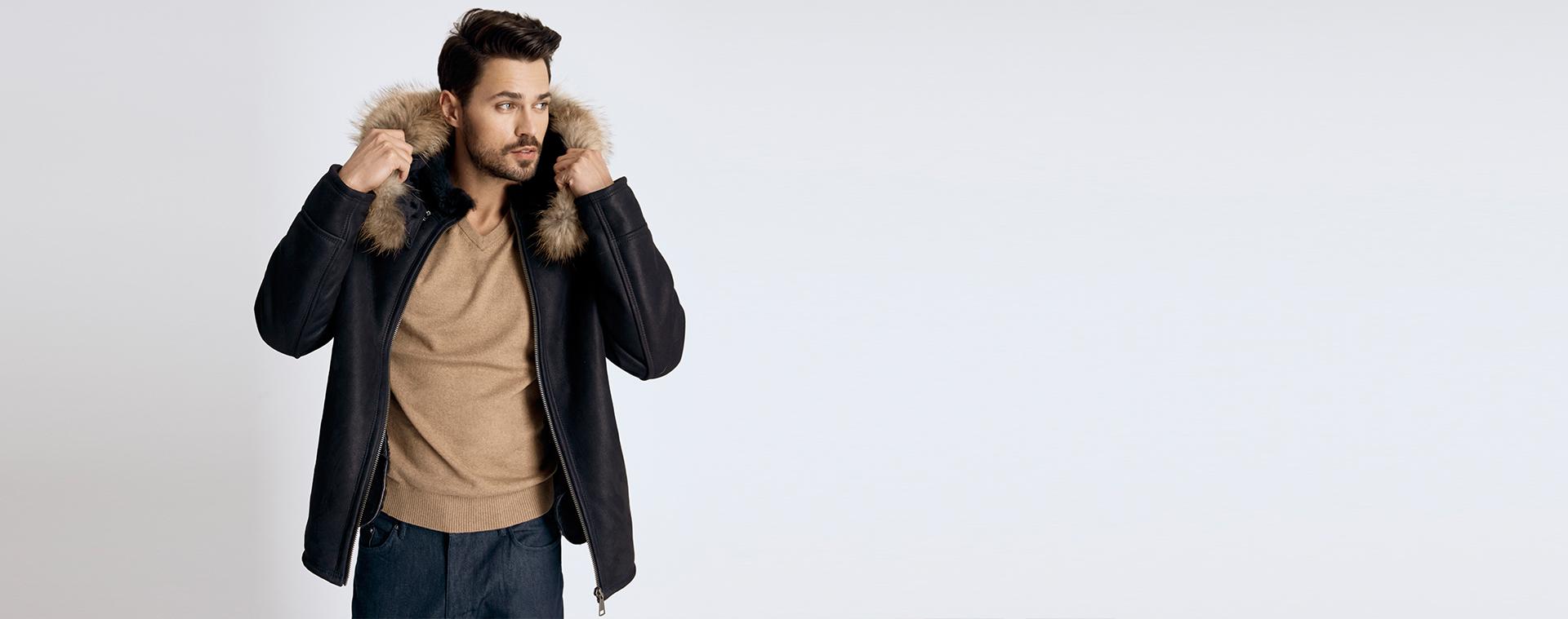 men fur coat